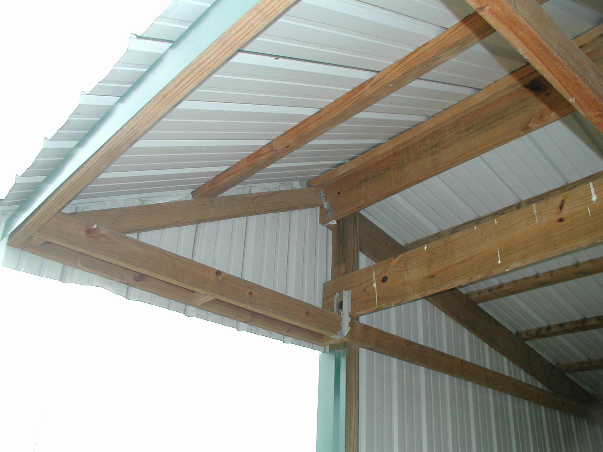Dig more horse shed construction for Shed roof design ideas