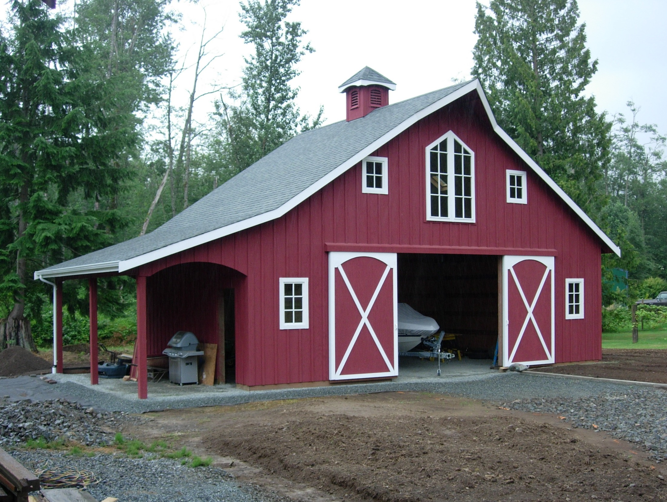 Pdf diy red barn plans download shadow box plans for Metal barn images